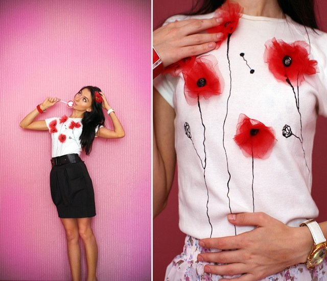 декор футболки своими руками