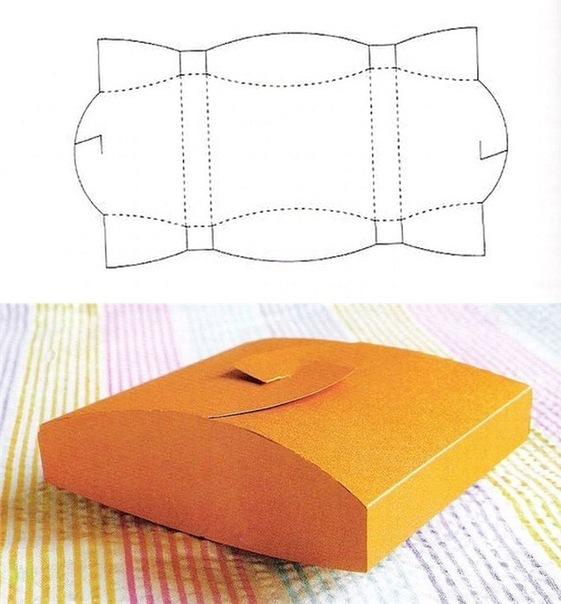 схемы коробочки из картона