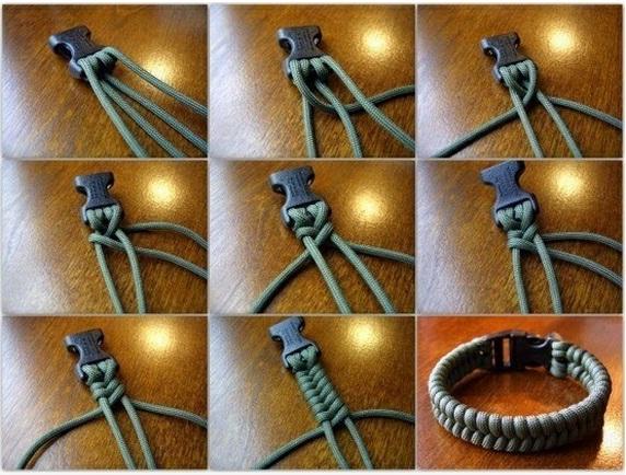 как сплести браслет из шнурков