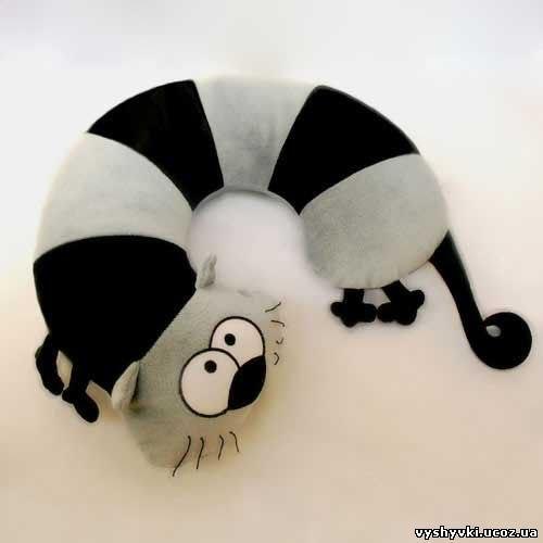сшить подушку кота