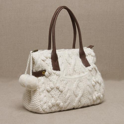вязанные сумки женские