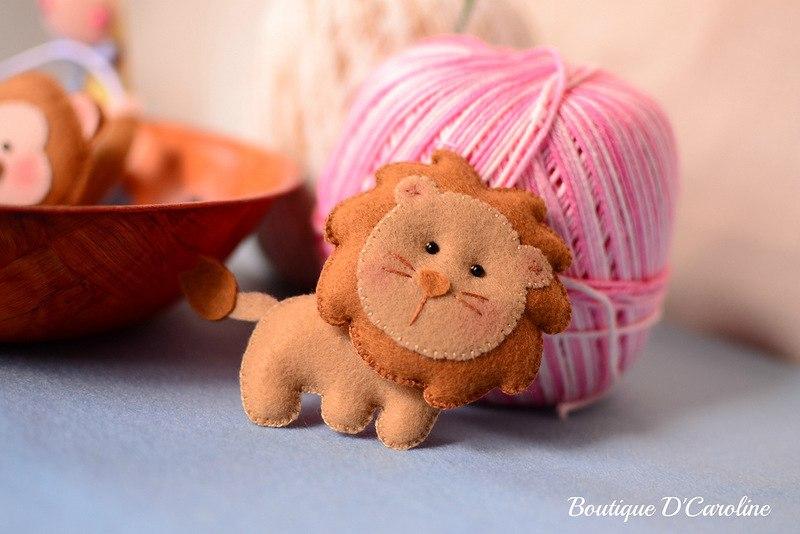 маленькие игрушки из фетра