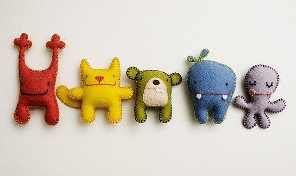 прикольные игрушки из фетра