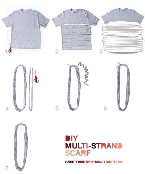 как сделать шарф из футболки