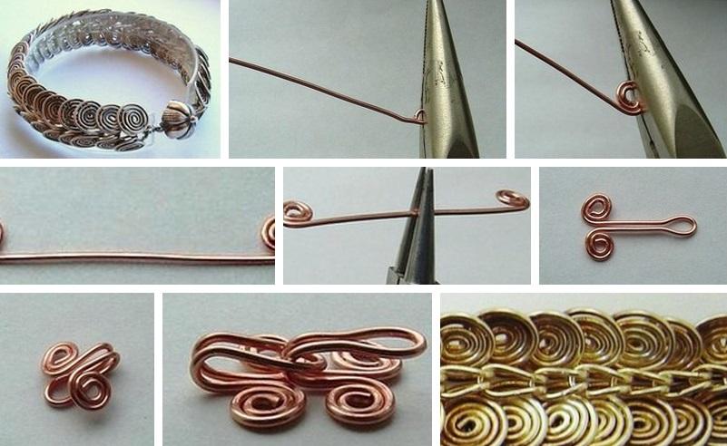 как делать браслеты из проволоки