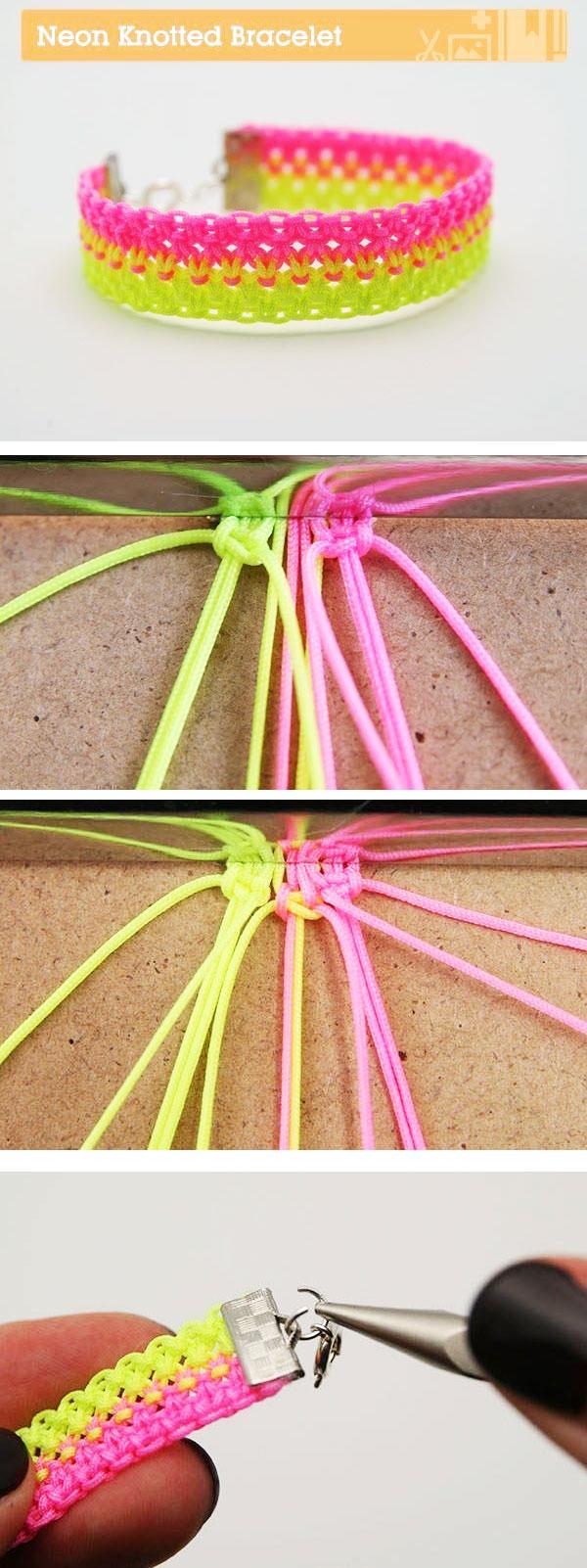 как делать браслеты из шнурков