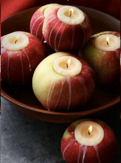 яблоко подсвечник