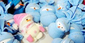 как сшить игрушку снеговика