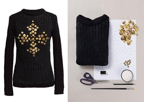 декор одежды пуговицами