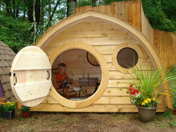 деревянные домики для детей своими руками фото