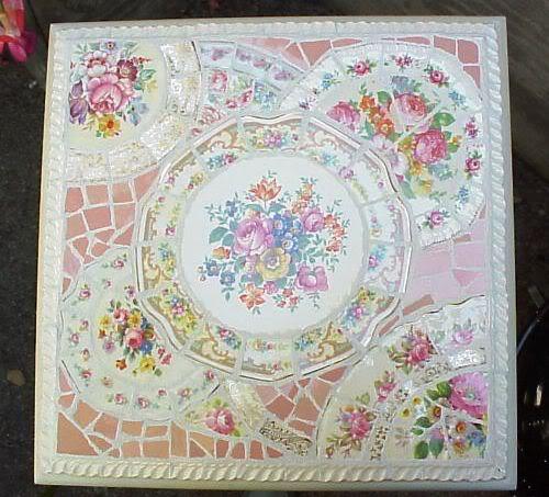 мозаика из битой посуды своими руками