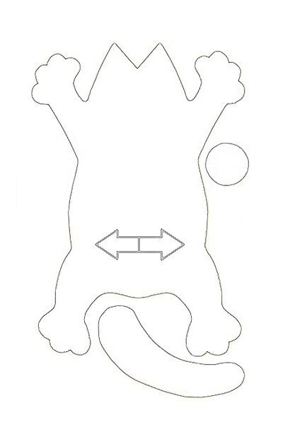 игрушка кот саймон выкройка