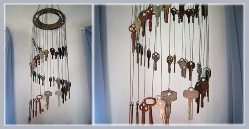 декор ключами